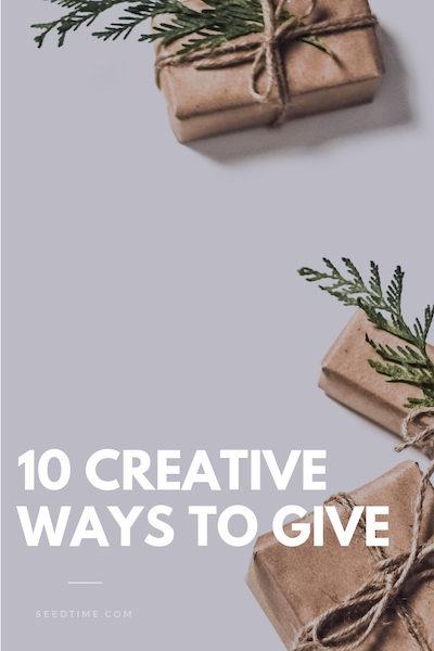 10 creative ways to give