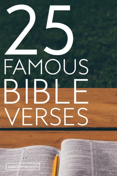25 Famous Bible Verses Top Scriptures On Love, Strength, Hope & More