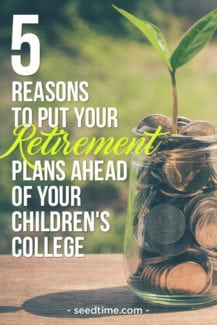 5 reasons why you should put your retirement savings ahead of paying for your kid's college tuition