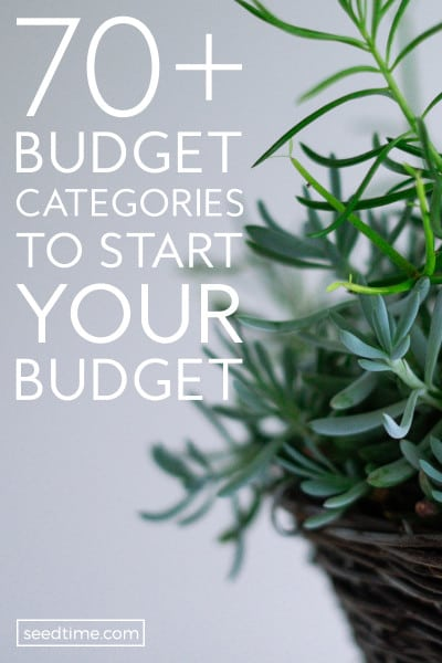 If you're new to budgeting, or a seasoned budgeter.. here are 70+ budget categories to help you gain control of your finances!