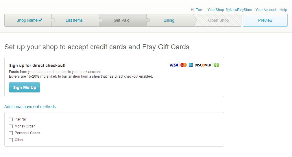 Choosing Payment Options For An Etsy Store
