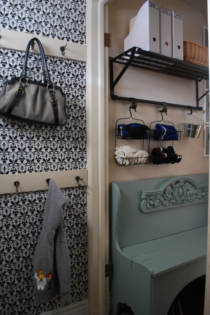 Pin this Mudroom Shelving Idea to your DIY Board