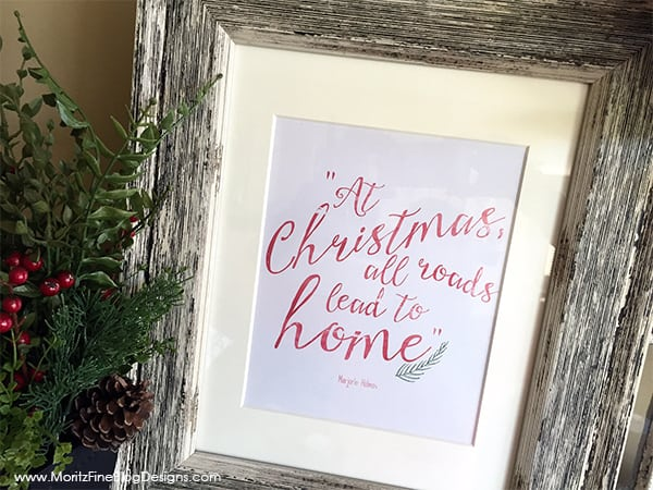 Pin this Framed Wall Quote to y our Christmas Board