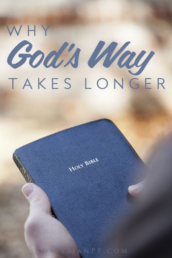 """Why God's way takes longer...In my case I have been diligently trying not to """"walk in the counsel of the wicked,"""" and it seems to be making my answers to prayer take even longer. I have been earnestly trying to do things the right way, knowing full well that by cutting a few corners or compromising my values I could make the answers appear faster. The major difference being that I can get mediocre answers doing it my way or the fruit God promises by doing it His way...."""