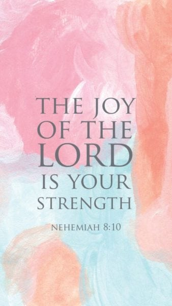 "Then he said to them, ""Go your way, eat the fat, drink the sweet, and send portions to those for whom nothing is prepared; for this day is holy to our Lord. Do not sorrow, for the joy of the Lord is your strength."""