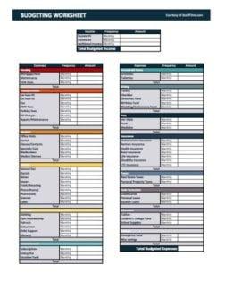 Get our FREE SeedTime #Printable #Budget Worksheet