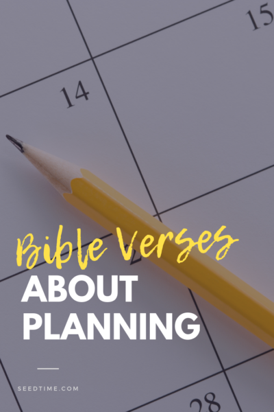 Bible Verses about Planning