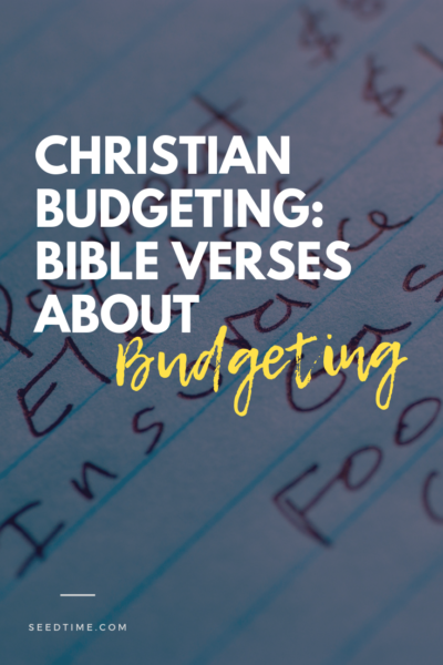 Christian Budgeting Bible verses about Budgeting