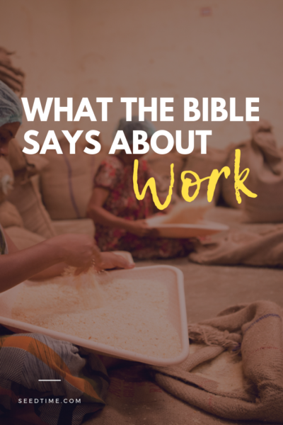 What the Bible says about work
