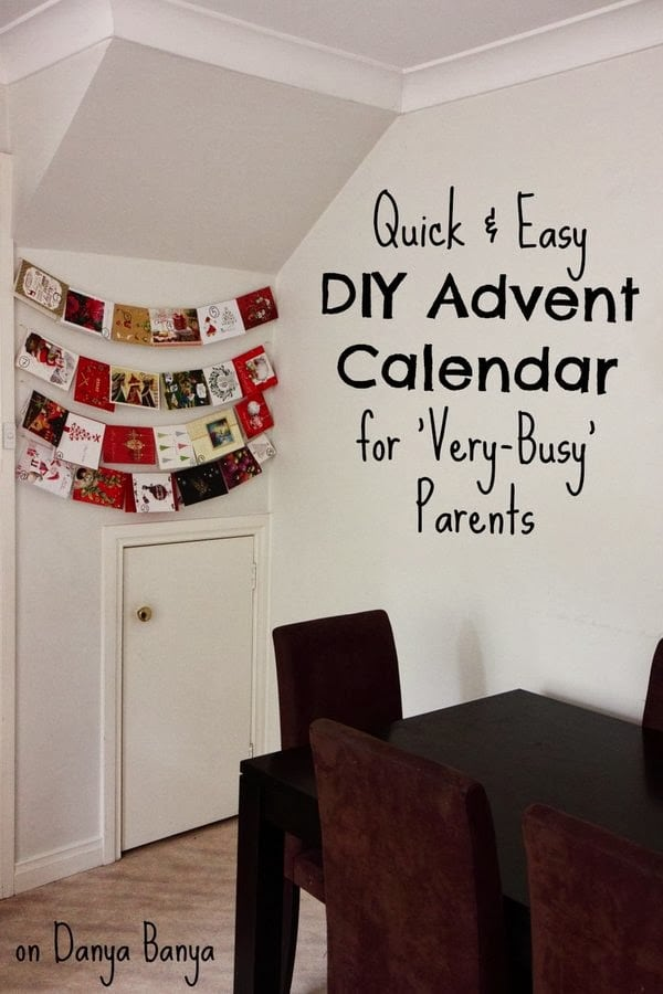 Pin DIY Advent Calendar to your Christmas Board