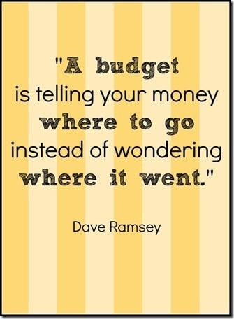 A Budget is telling your money where to go instead of wondering where it all went!
