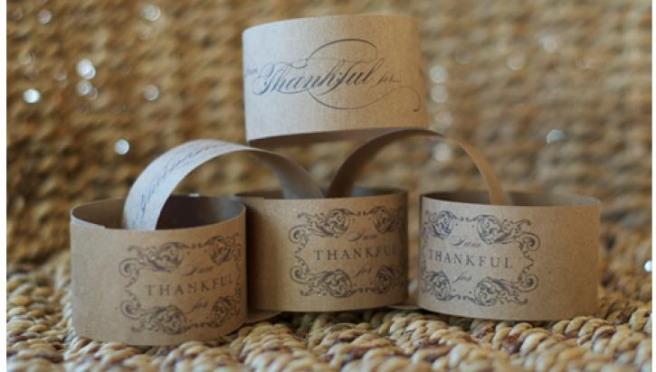 thankful napkin rings