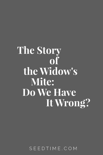 I have always heard the story of the Widow's Mite used in the context of sacrificial giving - as that seems to be the most common interpretation among Christians. But the commenter argues that it isn't about that at all.