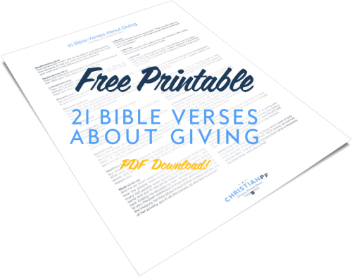 FREE Printable!! 21 Bible Verses about giving free PDF download