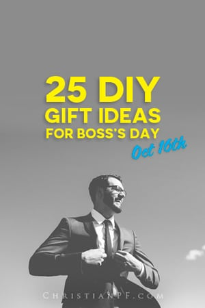 Boss's Day is October 16th! So if you are looking for some #gift ideas for your Boss, look no further than these 25 #DIY ideas!