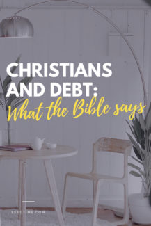 what the bible says about christians and debt