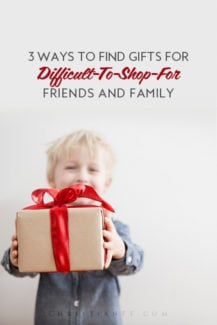 we all have some people in our lives that are very difficult to shop for. Check out these 3 ways to find even the most difficult ones gifts that they will love!