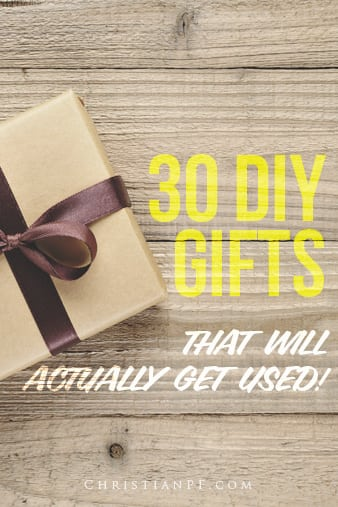30 DIY gifts that will actually get used!