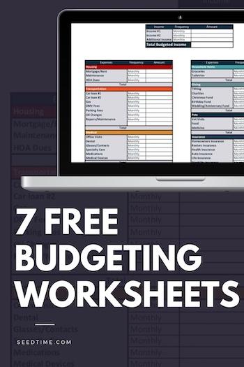 7 Free Printable Budgeting Worksheets