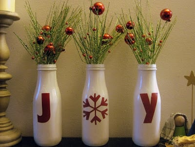 Pin Joy Bottle Mantle Display on your Christmas Board