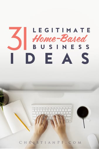 31 legit-home-based-business-ideas...With the economy being what it is, layoffs all around us, and an increasing desire for many to escape the rat race and work from home, many are trying to start a home-based business. Working from home not only offers independence and freedom but there are also some great home-based business tax deductions as well. As I sit and write this, I am reminded of the years I spent in jobs that I didn't like and am now so thankful that I get to work from home and do something I love. If you are longing for that situation, I encourage you to work to figure out what it is that you would love doing and keep at it until you reach that goal....