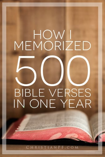 How I memorized 500 Bible verses - and it really is easy!