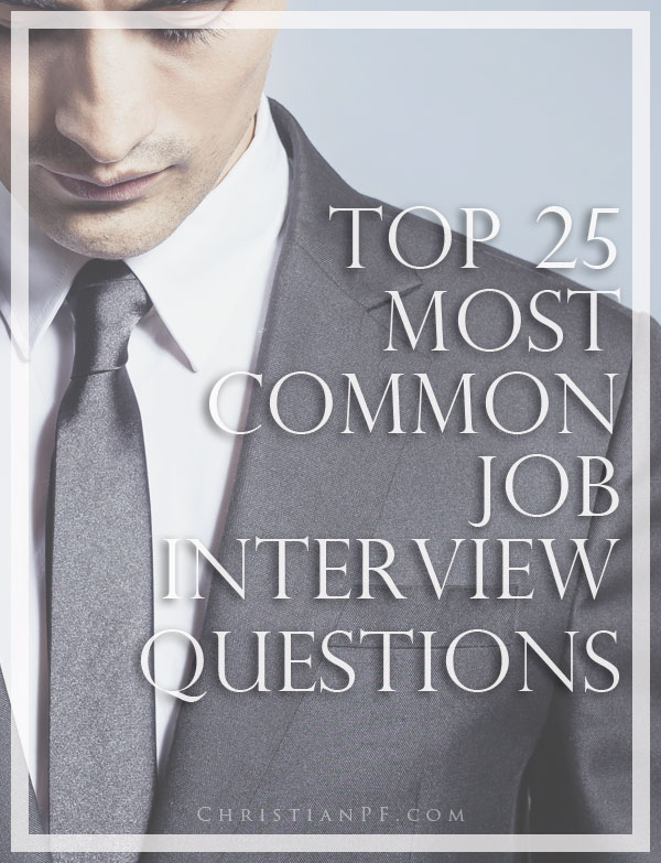 The 25 most common job interview questions asked...job interviews often reveal how skilled a person is at interviewing, rather than how good a fit they will be for the job. Rather than getting frustrated at the process, our best course of action is probably to go with the flow and learn how to play the game. So, what can we do about it?  Be as prepared to answer the interview questions as possible!  Early in my career I would go to job interviews, knowing that they were going to ask some tough anecdotal questions. I would just hope that I could whip out a great answer without a 90 second awkward pause as I tried to think of a time when I had a situation at work that I used problem-solving skills to solve....