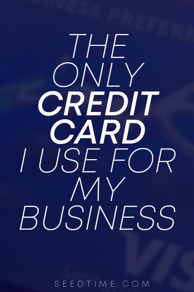 The best credit card for business if you buf online advertising - because it gives you 3x points on Ad spend!!
