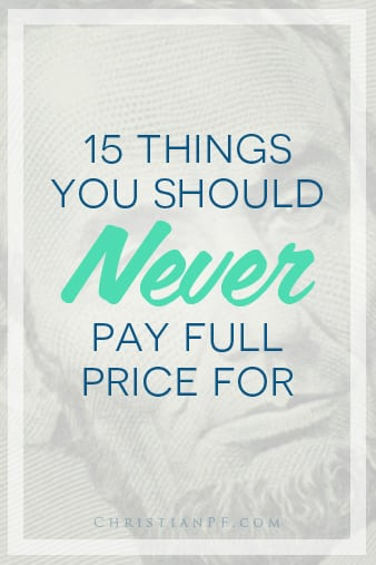 15 things you should never pay full price for...  http://seedtime.com/things-you-sho…full-price-for/...Don't you love getting a deal on things? Several years ago, I didn't think twice about paying full price for most of the things I bought each week.  Now that I've learned about the deals you can get from free grocery coupons and simple negotiation tips, paying full price for most items doesn't make sense!  My philosophy is this: someone is going to pay full price, but it doesn't have to be you.  Sometimes it's worth paying full price for an item. Maybe the few minutes spent each week to clip coupons isn't worth the savings for you....
