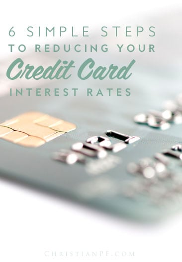 "6 simple steps to help you reduce your credit card interest rates...Have you ever heard the saying ""I'm so poor, I can't even pay at­tention""? It is so true with credit cards. Most people do not pay atten­tion to the fine print. The biggest financial mistakes that I see on a day-to-day basis mainly deal with credit card issues. It is not so much the balance that is the problem, it is the interest. This is the biggest wealth-killer. If you have even a $10,000 balance at 19.99 percent, this is almost $2,000 a year in interest. That is $2,000 that could have been donated or invested. This adds up over time, especially when you are making only the minimum required payments...."