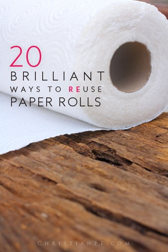 Here are 20 ideas for you on how you can reuse and repurpose those old paper rolls from toilet paper and paper towels!