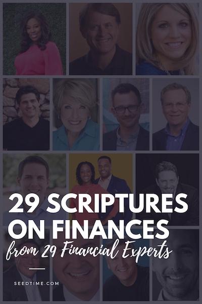 29 scriptures on finances