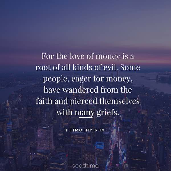 the love of money is a root of all evil