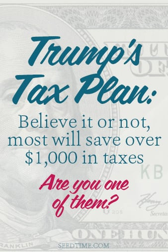 Who knew that Trump's tax plan actually is going to same most people money on their income takes?