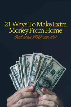 Need to make some extra money, but want to do it from home? Here are 21 ways to make some extra cash that you can do from home!